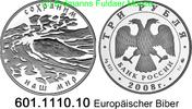 3 Rubel 2008 Russland Europäischer Biber . 601.1110.10 PP  63,00 EUR