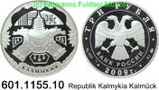 3 Rubel 2009 Russland Republik Kalmykia Kalmück . 601.1155.10 PP  52,00 EUR