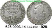 50 Centavos 1828 Sankt Thomas und Prinzeninsel St. Thomé $ Prince *3 KM... 39,50 EUR