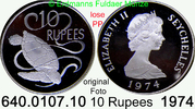 1974 Seychellen *20a KM20a  Elisabth II. PP lose  34,95 EUR