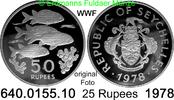 50 Rupees 1978 Seychellen *39b KM39  WWF Fische PP  24,95 EUR  +  8,95 EUR shipping