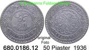 50 Piastres 1936 Syrien *9 KM74  geringe Auflage ss-vz  39,00 EUR incl. VAT.,  +  8,95 EUR shipping