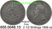 2 1/2 Shillings 1896 Südafrika *7 KM7 Ohm Krüger ss  39,00 EUR  +  8,95 EUR shipping