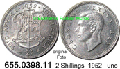 2 Shillings 1952 Südafrika South Africa *59 KM38.2 unc  29,00 EUR  +  8,95 EUR shipping