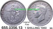 1 SHILLING 1950 Südafrika South Africa *49 KM37.1 ss  7,75 EUR incl. VAT., +  8,95 EUR shipping