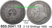 2 1/2 Shillings 1892 Südafrika South Africa *7 KM7 -ss  34,00 EUR incl. VAT., +  8,95 EUR shipping