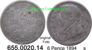 6 Pence 1894 Südafrika South Africa *4 KM4 s  39,75 EUR  +  8,95 EUR shipping