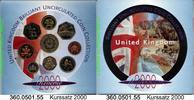 Great Britain Großbritannien 4,38 Pounds 2000 unc Kursmünzensatz . . . .... 21,75 EUR