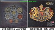 5,88 Pounds 2008 Großbritannien Great Britain Kursmünzensatz . 360.0808... 22,75 EUR  +  8,95 EUR shipping