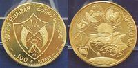 Emirat Fujairah 100 Riyals 1970 Gold 20,73 g 900 Emirat Fujairah 100 Riyals 1970 Gold 20,73 g 900 ‰ (Feingewicht 18,66 g) Auflage