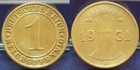 1 Pfennig Probe/Fehlprägung in Messing 1931A Deutschland / Weimar Weima... 275,00 EUR  +  8,95 EUR shipping