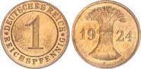 1 Pfennig 1924E Deutschland / Weimar Weima...