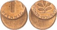 1 Pfennig 1976 40% dezentriert 1976 Deutschland BRD 1 Pfennig 1976 Fehl... 50,00 EUR  +  7,50 EUR shipping