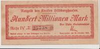 Notgeld 100 Millionen Kreis Hildburghausen 1923 Deutschland/ Weimar Wei... 20,00 EUR  +  3,95 EUR shipping
