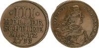 3 Heller 1755 Hessen- Kassel Hessen-Kassel Wilhelm VIII 3 Heller 1755 f... 50,00 EUR  +  7,50 EUR shipping
