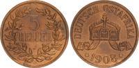 Kolonien Deutsch-Ostafrika 5 Heller Deutsch-Ostafrika 5 Heller 1908J   vz