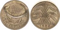 10 Pfennig Fehlprägung 1924 A Weimar Weimar, Fehlprägung: 10 Pfennig 19... 125,00 EUR  +  7,50 EUR shipping