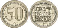 50 Pfennig Messing vernickelt 1919 A Kaiserreich / 50 Pf. Probeprägung ... 750,00 EUR  +  8,95 EUR shipping