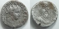 Antike / Römische Kaiserzeit / Nero Provinzialprägung - Billion Tetradrachme Nero   Billion Tetradrachme  Provinzialprägung Alexandria, Sarapis