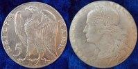 Deutschland /Weimar/ Probeprägung 5 Mark Probe 1925 D Weimar 5 Mark 1925D Motivprobe in Silber, VS und RS neues Design     vz-st
