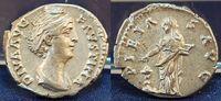 Antike / Römische Kaiserzeit/Faustina I Denar Faustina Major  Denar Pietas n.l. stehend, PIETAS AVG, vz