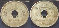 Kolonien Deutsch-Ostafrika 10 Heller Deutsch-Ostafrika 10 Heller  (5)1908J seltenes Jahr vz