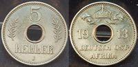 5 Heller 1913 J Kolonien / Ostafrika Deutsch-Ostafrika 5 Heller (2) 191... 40,00 EUR
