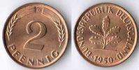 2 Pfennig 1950 G Deutschland 2 Pfennig 1950 G  seltene Erhaltung:  Prac... 98,00 EUR  +  7,50 EUR shipping