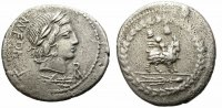 ROMAN REPUBLIC. FONTEIA_10. BC 85. SILVER DENARIUS. GOOD PRICE.