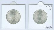 5 DM Silberadler 1963 D Bundesrepublik Deutschland  prägefrisch bis ste... 45,00 EUR  +  6,50 EUR shipping