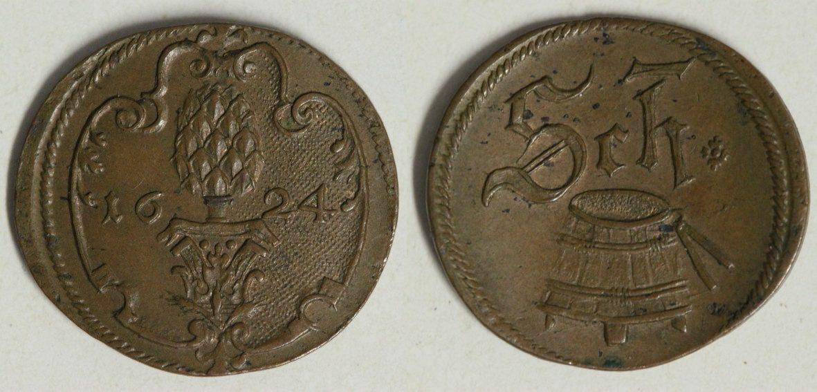 marken zeichen scheffelmarke 1624 augsburg stadt coins. Black Bedroom Furniture Sets. Home Design Ideas