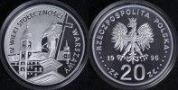 20 Zloty 1996 Polen 400 Jahre Hauptstadt Warschau - selten PP*  100,00 EUR  +  10,00 EUR shipping