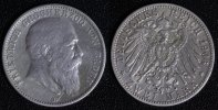 2 Mark 1906 G Baden Friedrich - seltenes Prägejahr ss/kl.Kr.  100,00 EUR  +  10,00 EUR shipping