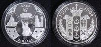 50 Dollars - 5 Unzen 1994 Niue Fußball-WM ´94 USA - niedrige Auflage PP... 149,00 EUR  +  10,00 EUR shipping