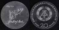 20 Mark 1975 DDR  PROBE - Johann Sebastian Bach f.st/f.Kr.  110,00 EUR  +  10,00 EUR shipping