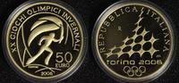 50 Euro 2006 Italien Olympia Turin ´06 - Fackelläufer PP*/l.Rsp.  710,00 EUR  +  10,00 EUR shipping