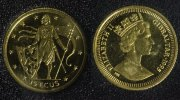 15 ECUS 1995 Gibraltar Gold PP*  75,00 EUR  +  10,00 EUR shipping