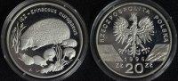 20 Zlotych 1996 Polen Bedrohte Tierarten - Igel PP*/min.Pat.  240,00 EUR  +  10,00 EUR shipping