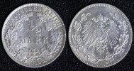 1/2 Mark 1912 J Kaiserreich  vz+  65,00 EUR  +  10,00 EUR shipping