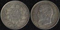 50 Centimes 1858 A Frankreich Napoleon III. - Paris vz  90,00 EUR  +  10,00 EUR shipping