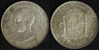 5 Pesetas 1888 - 88 Spanien, Königreich Alfonso XIII. - Madrid - selten... 385,00 EUR  +  10,00 EUR shipping
