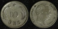 10 Öre 1886 Dänemark Christian IX. - selten s-ss  69,00 EUR  +  10,00 EUR shipping