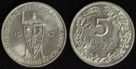 5 Mark 1925 F Weimar Rheinlande vz-st/kl.Rf./Kr.  99,00 EUR  +  10,00 EUR shipping