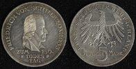 5 Mark 1955 BRD Schiller vz/l.Kr./ber.  210,00 EUR  +  10,00 EUR shipping