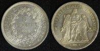 5 Francs 1848 A Frankreich Republik - Paris gutes vz/min.Rf.  110,00 EUR  +  10,00 EUR shipping