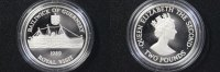 2 Pfund 1989 Guernsey 2 Pounds Guernsey 1989 Royal Visit Silver Proof P... 60,00 EUR  +  10,00 EUR shipping