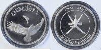 2,5 Rials 1987 Oman Kaffernadler - Verreaux's Eagle - Aquila verreauxii... 60,00 EUR  +  10,00 EUR shipping