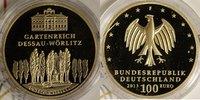 100 Euro 2013 F BRD UNESCO Welterbe Dessau st/OVP/Zert.  640,00 EUR  +  10,00 EUR shipping
