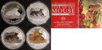Typeset 2008 Australien Typeset- 4x 1 Oz Ag - Jahr der Maus Lunar II st  330,00 EUR  +  10,00 EUR shipping