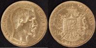 50 Franc 1858 BB Frankreich Napoleon III.(1852-70) ss-vz, kl. Rf.  790,00 EUR